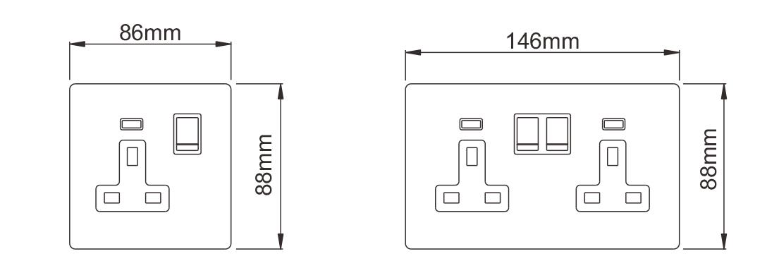 Switch socket 9023SPL2