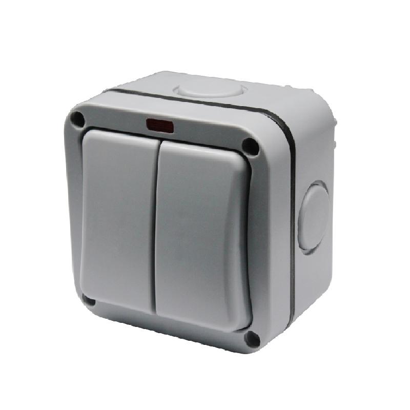 Safewire 902ALF 2 gang switch waterproof box