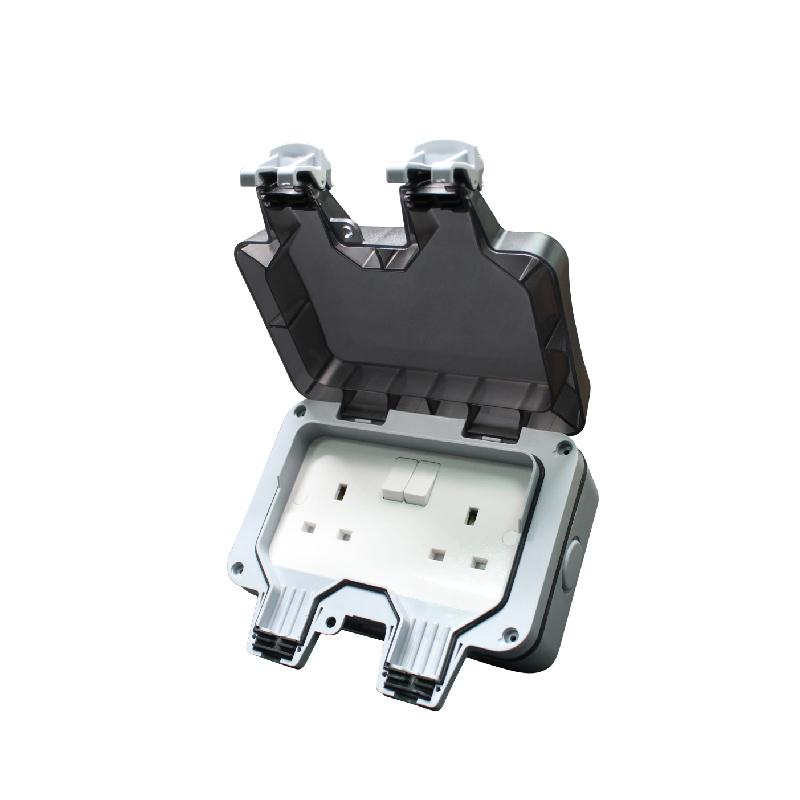 Safewire 923SPF 2 gang 13A waterproof switch box