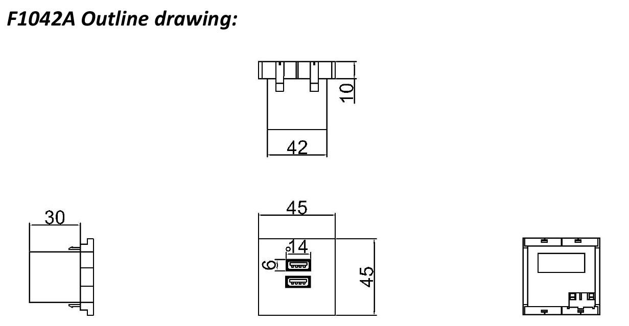 Safewire Datasheet 45 uri ng wall USB charger F1042A M191105-7