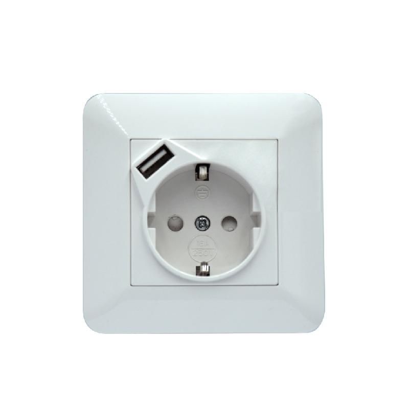 Safewire SF-80-USB-54B  EU socket with USB