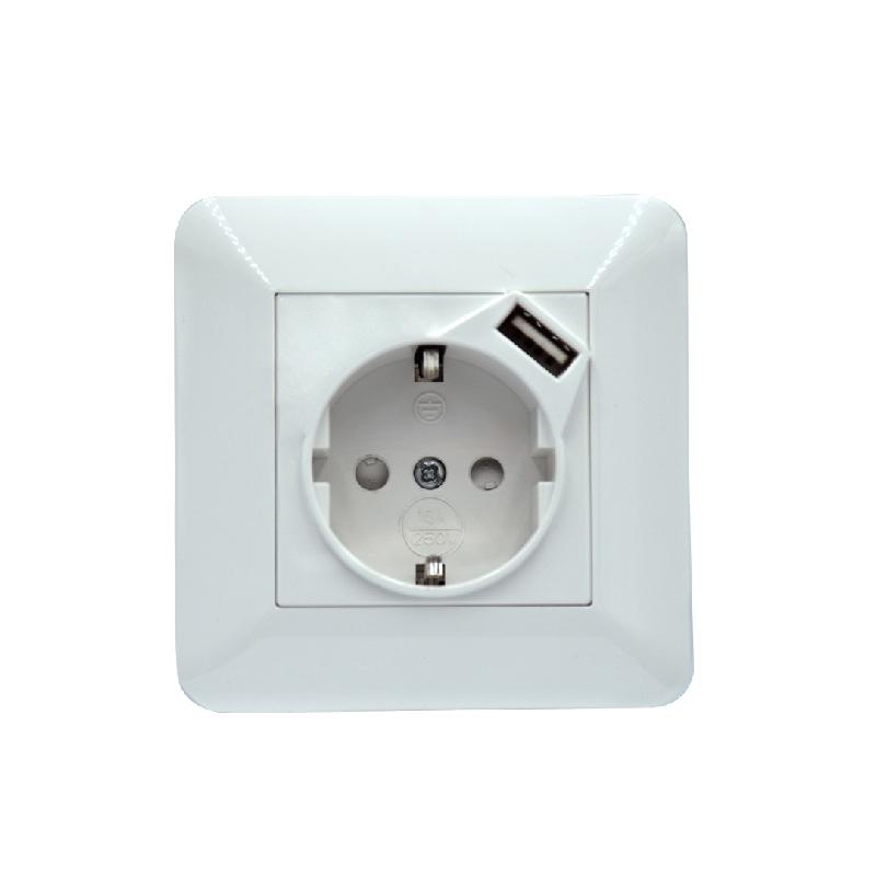 Safewire SF-80-USB-54C  EU socket with USB