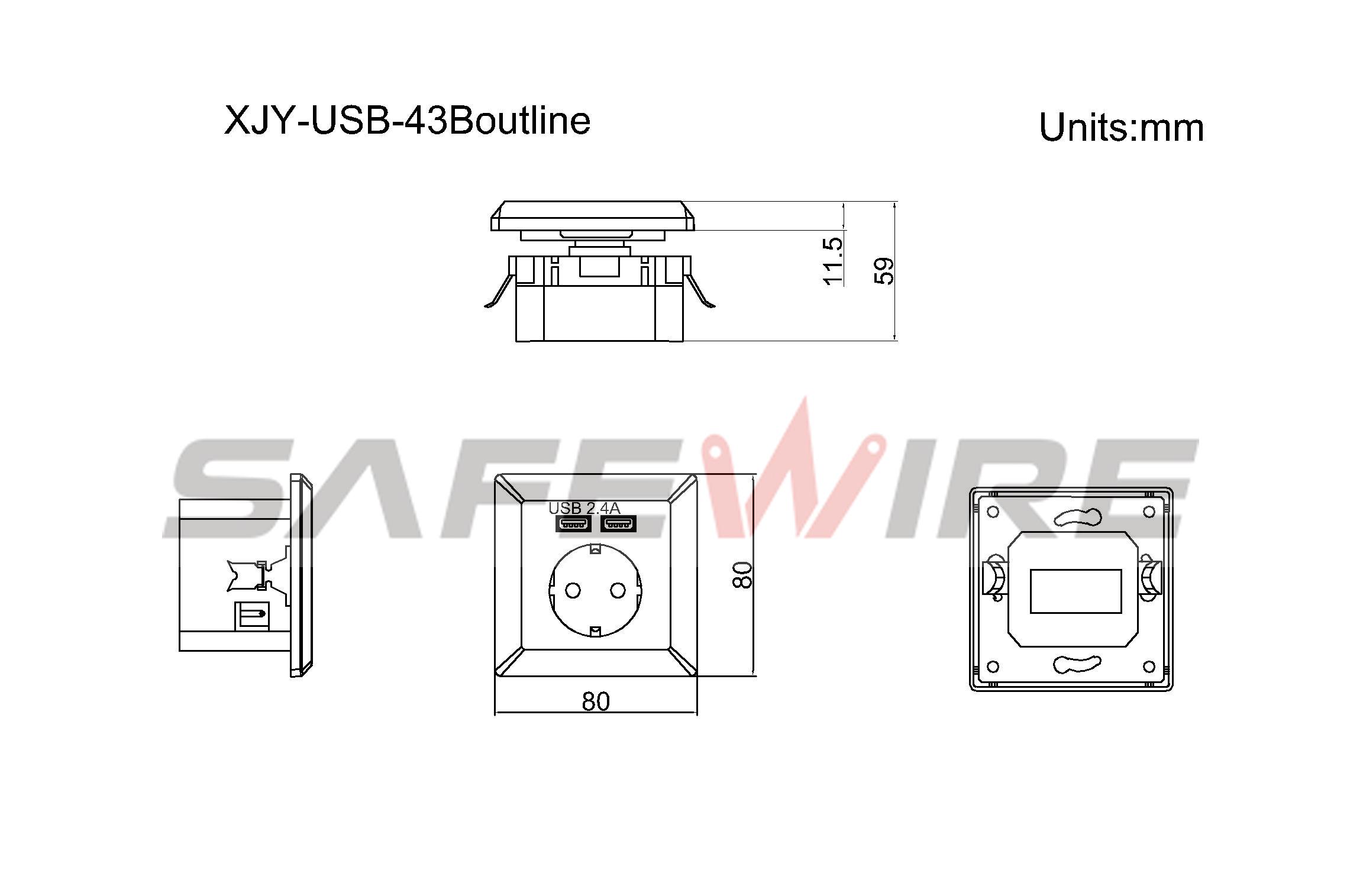 XJY-USB-43B
